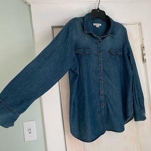 Jean button-up. XL.